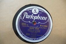 GARLAND WILSON ROCKIN' CHAIR / LOUIS ARMSTRONG EARL HINES WEATHER BIRD. 78RPM.
