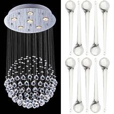 10Pcs Clear Crystal Beads Pendants Teardrop Chandelier Curtain Hanging Drop HOT