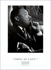 "MARTIN LUTHER KING - FREE AT LAST HISTORICAL - 91 x 61 MM 36 x 24"" ART POSTER"