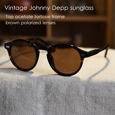 Vintage polarized sunglasses 1960's Depp women eyeglass mens tortoise brown lens