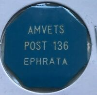 Ephrata Pennsylvania PA AMVETS Post 136 Good For One Drink Trade Token
