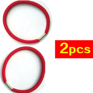02# Red Rubber Bands Cord Elastic Hairbands Hair Tie Rope x2