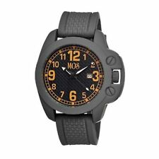 NEW MOS Men Of Style CS105 Caracas Grey Rubber Coated Case Black Dial Cool Watch