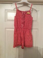 Girls Play suit Coral Floral Marks And Spencer's Age 10