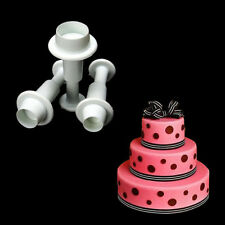 Cute Round Circle Fondant Cake Mold Set Cookie Paste Plunger Cutter Decor Mould