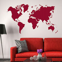World Map Wall Stickers! Earth Vinyl Transfer Graphic Decal Decor Globe Stencils