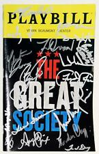 THE GREAT SOCIETY Broadway Richard Thomas Partial Cast Signed Playbill
