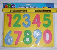 NEW IN PACKAGE PRETEND PLAY SOFT RUBBER MAT NUMBER PUZZLE LEARN TO COUNT AGES 3+