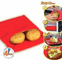 4 Minutes Jacket Potato Express Microwave Cooker Bag Reusable Washable
