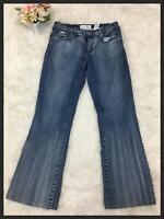 Baby Phat Brand Women's Medium Wash Boot Cut Stretch Denim Jeans Pants Size 9