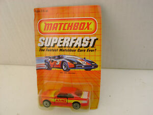 1985 MATCHBOX SUPERFAST SF5 MB43 RED AMG MERCEDES 500 SEC NEW ON DAMAGED CARD