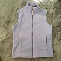 Women's Woolrich Full Zip Up Vest Sweater Fleece Jacket Small S Lilac Purple EUC