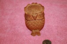 Vintage Carved Wood Owl Travel Hindi Alter