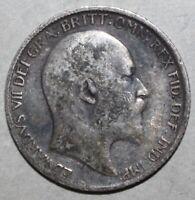 British Sixpence Coin 1910 - KM# 799 - Britain King Edward VII Six Pence UK 6
