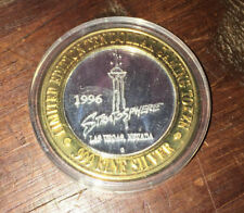 WASHINGTON DC MONUMENT LAS VEGAS STRATOSPHERE 1996 RARE 999 SILVER GAMING COIN