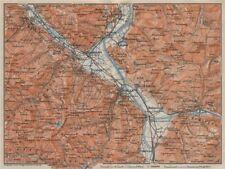 BAD RAGAZ. Malbun Flums Wangs Pizol Sargans Grusch Malans Maienfeld 1922 map