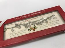 New 12 Days of Christmas Sterling Silver Finish Charm Bracelet Holiday Toggle