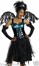 GIRL'S AQUA FAIRY COSTUME SIZE 7-8-M! NEW STORED CONDITION! BLACK/AQUA! B.TWIXT!