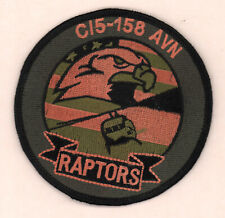 158th Avn Aviation C charlie C/5 Raptors Army patch 4 in