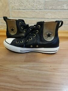 Converse Womens Chuck Taylor All Star Chelsea Leather High Top Black Size  8