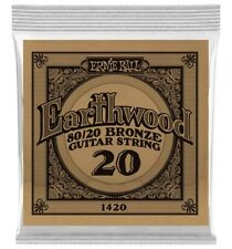 Ernie Ball 1420 - Corde acoustique au détail Earthwood 80/20 Bronze - Filé bron