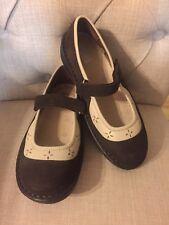 DREW Women's Diabetic Orthopedic Leather Maryjane Shoes  Size 6 1/2 M brown tan