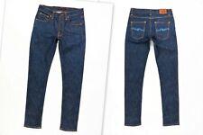 NUDIE NJ1001109 LEAN DEAN DRY IRON Slim Skinny Stretch Org. Cotton Blue Jeans