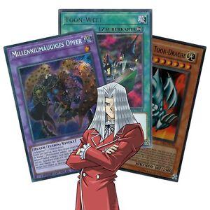 Yugioh! Maximillion Pegasus - Toon, Aufgegeben - Deck Set -  Milleniunnium Äugig