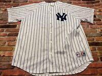 Vintage Mariano Rivera  #42 New York Yankees Pinstripe Majestic Jersey Sz 2XL