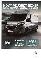 Peugeot Boxer 07 / 2015 catalogue brochure tcheque Czech rare