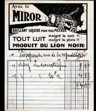 """MONTROUGE (92) USINE de PRODUITS d'ENTRETIEN ENCAUSTIQUES """"LION NOIR - MIROR"""""""