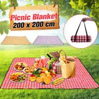 200x200cm Waterproof Picnic Blanket Mat Pad Outdoor Camping Beach La