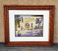 """KEN R WATSON SIGNED ORIGINAL FRAMED ART WATERCOLOR PAINTING """"A DAY IN MEXICO"""""""