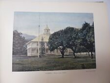 TAHITI: Gravure 19° in folio couleur /PALAIS DU ROI  A PAPEETE