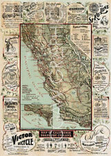 BLUM GEORGE W.-MAP OF CALIFORNIA ROADS FOR CYCLERS, 1896-Offset Lithograph(4076)