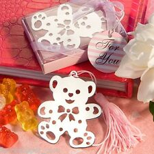 40 Pink Teddy Bear Bookmarks birthday party favor Girl Baby Shower Favors