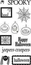 HEIDI GRACE Clear Stamps HALLOWEEN SPOOKY SPIDER WEB