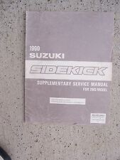 1990 Suzuki Sidekick Supplementary Service Manual 2WD Model Steering Auto   R