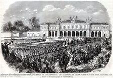 Stazione di Torino Porta Susa:30 Aprile 1859:Arrivo Truppe Francesi.Risorgimento