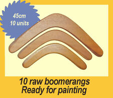 A lot of 10 boomerangs | Raw plywood returning boomerangs - 18in / 45cm