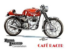 Royal Enfield Constellation 1960s Cafe Racer Motorbike Motorcycle Birthday Card