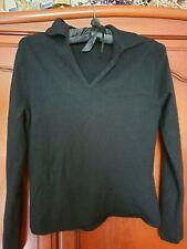 Lands/' End Cashmere Waterfall Cardigan Sweater Multi Size Cinnamon Heather  $199