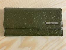 Kenneth Cole Reaction Green Patent Leather Tri-Fold Wallet - Many Compartments