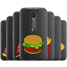 Dessana Fast Food TPU Silicone Protective Cover Phone Case Cover For Motorola