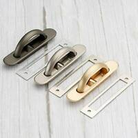Flat Plate Flush Recessed Satin Furniture Steel Cabinet Sliding Door Pull Handle
