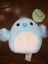 "Squishmallow-5"" Cedrick the Blue & White Chick-NWT & HTF! Easter Limited Edition"