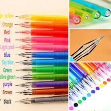 12pcs Diamond Gel Pens School Supplies Draw Colored Pens Candy Color