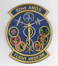 "USAF Patch 82nd Aerospace Medical Sq, Aerospace Medicine Flight Surgeons Ga, 4"""