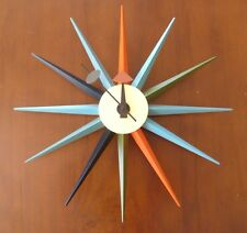 Modern Design Retro Multi Colour Star Sunburst Wall Clock George Nelson Replica