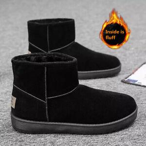 Womens Winter Boots Snow Fur Warm Comfy Casual Fashion Mid Calf Mens Shoes